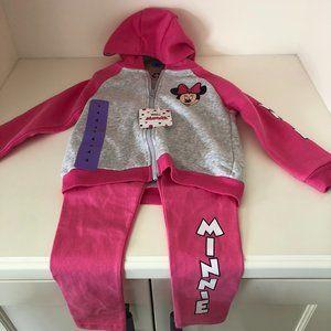 NWT Disney Minnie Mouse Pants & Jacket Set Size 4T